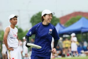 Japan's Yuko Suzuki. Photo: Japanese Flying Disc Association
