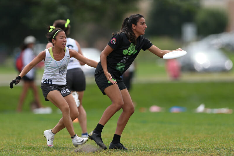 Australia's Simar Dhaliwal playing with Ellipsis at the 2019 US Open. Photo: Alec Zabrecky -- UltiPhotos.com