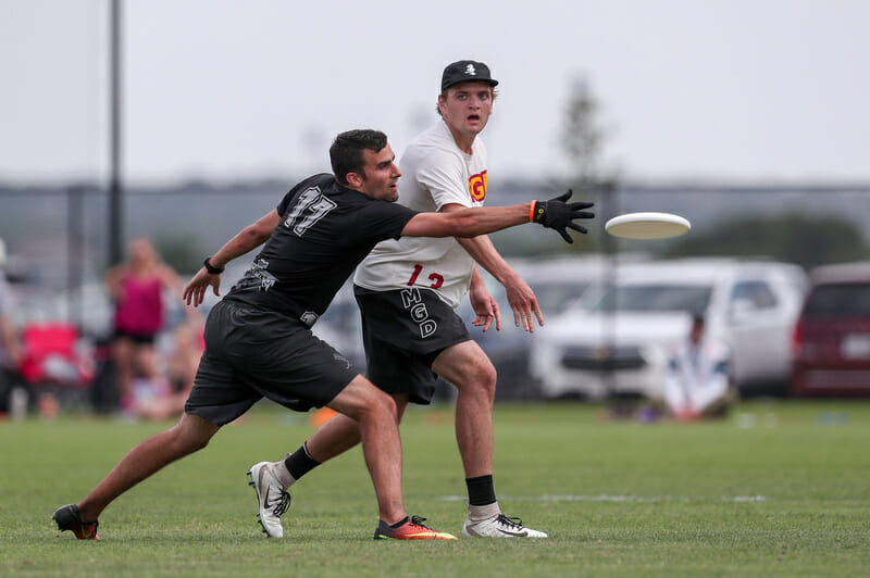 Minnesota's Cole Jurek at the 2019 College Championships. Photo: Paul Rutherford -- UltiPhotos.com