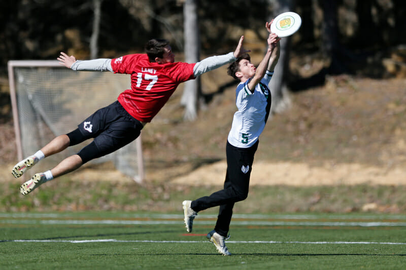 NC State's John Laney goes for the big block against UNCW at Carolina Kickoff. Photo: William 'Brody' Brotman -- UltiPhotos.com