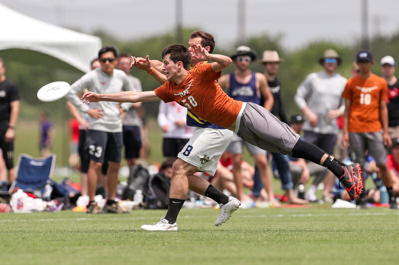Despite being a top defender on a solid Texas squad, Matthew Armour got little support for award recognition. Photo: Paul Rutherford -- UltiPhotos.co