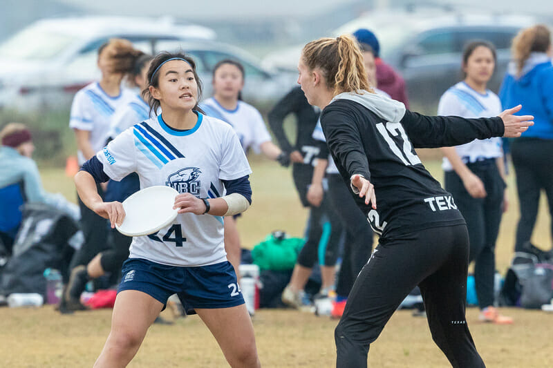 Playing at only one tournament and with very little action on tape, British Columbia's Julia Zhang was largely overooked in our awards discussions. Photo: Rodney Chen -- UltiPhotos.com