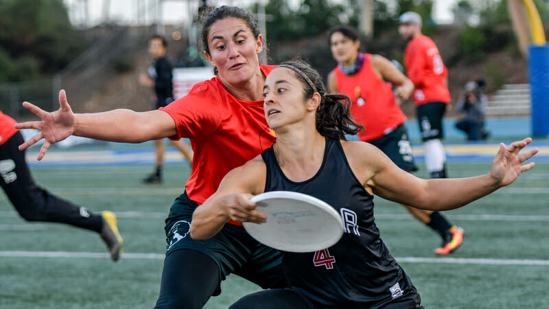 Philadelphia AMP and San Francisco Mischief both excelled last year thanks to the play of their exceptional women. Photo: Jeff Bell -- UltiPhotos.com