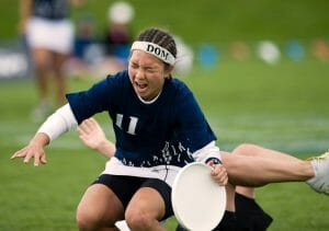 Carolyn Finney dominated the 2011 College Championships final on a sprained ankle. Photo: Brian Canniff -- UltiPhotos.com