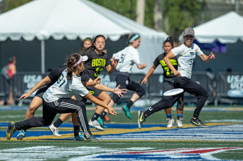 USAU Club Women's National Semifinal: San Francisco Fury vs. Boston Brute Squad