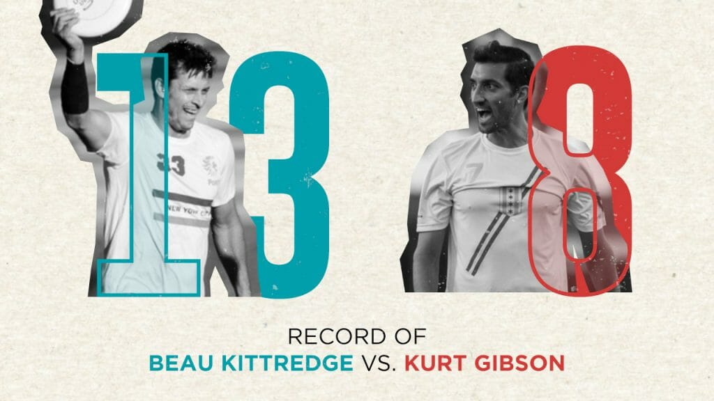 From 2000-2009, Beau Kittredge's ultimate teams went 13-8 against Kurt Gibson's clubs.