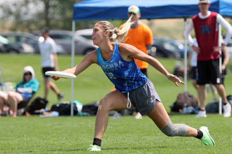 Boise Lochsa's Cori Bigham at Pro-Elite Challenge 2021. Photo: Ken Forman -- UltiPhotos.com
