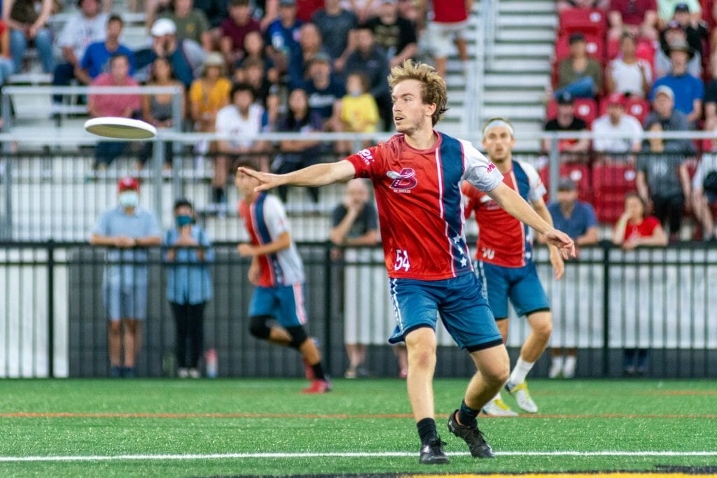 Gus Norrbom helped the DC Breeze to another impressive victory in Week 5 over the previously undefeated New York Empire. Photo: Sammie Maygers -- AUDL