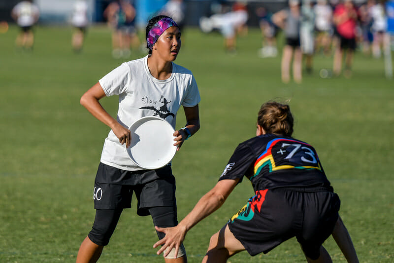 Caitlin Go is part of the founding leadership team on Boston's new elite mixed squad, Sprocket. Photo: Jeff Bell -- UltiPhotos.com
